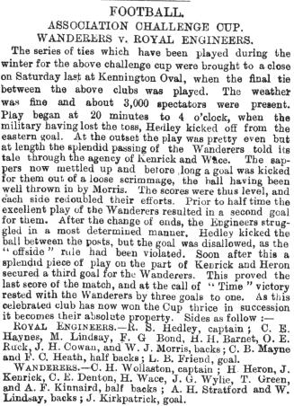 report of fa cup 1878