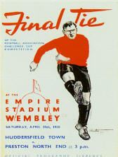 fa cup final 1938: Preston North End team poster 1938