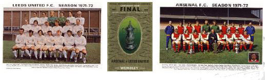 fa cup final 1972: Leeds United team poster 1972