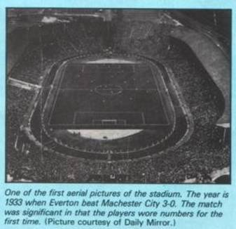 aerial picture of stadium - 1933 everton vs manchester city fa cup final